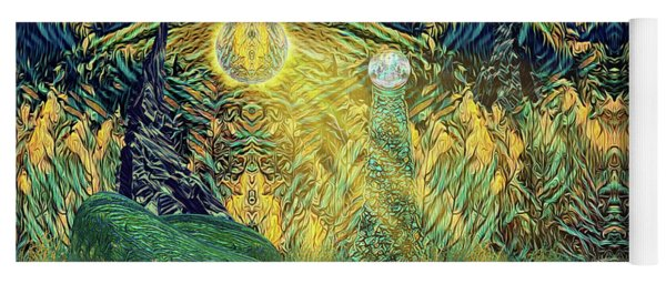 Yoga Mat featuring the digital art Alorial - Shifting Dominion by Mike Braun