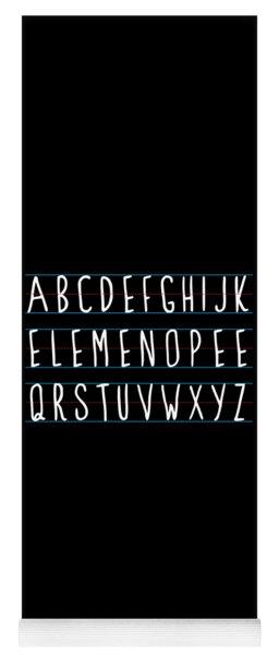 Alphabet Elemeno Yoga Mat