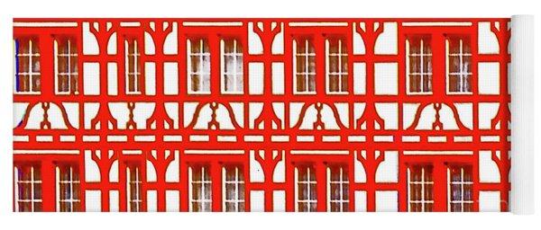 Altstadt  Old Town Lucerne Swiss Windows  Yoga Mat