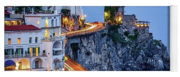 Amalfi Coast Italy Nightlife Yoga Mat