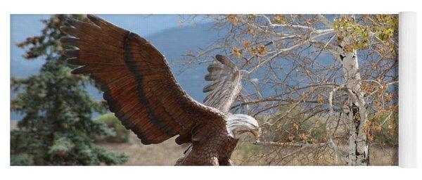 American Eagle In Autumn Yoga Mat