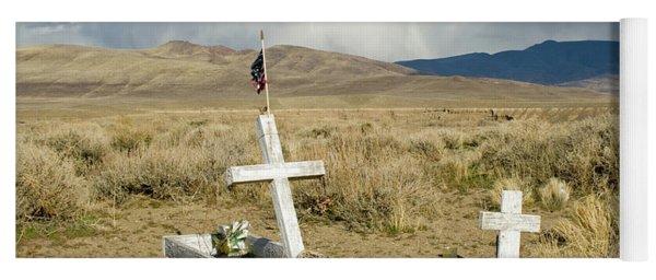 American Flag Grave Yoga Mat