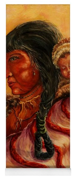American Indian Mother And Child Yoga Mat