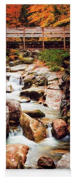 Ammonoosuc River, Autumn Yoga Mat