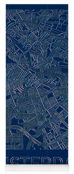 Amsterdam Blueprint City Map Yoga Mat