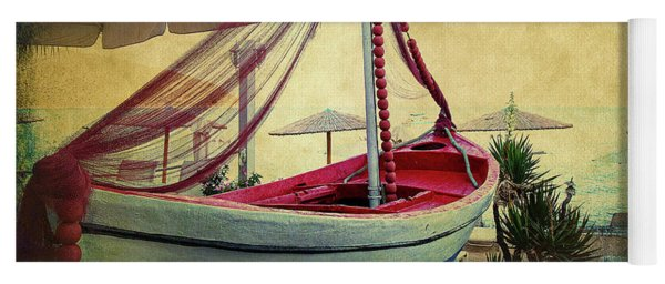 Yoga Mat featuring the photograph an Old Boat by Milena Ilieva