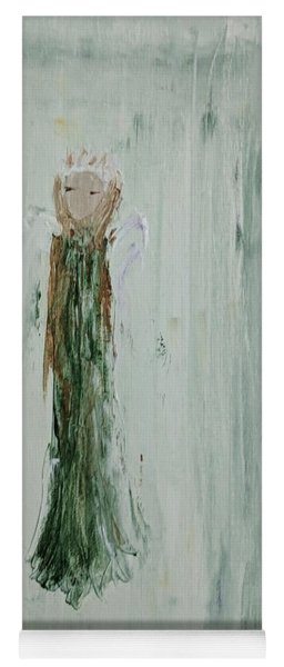 Angel In Green Yoga Mat