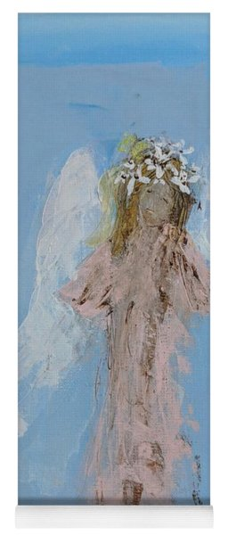 Angel With A Crown Of Daisies Yoga Mat