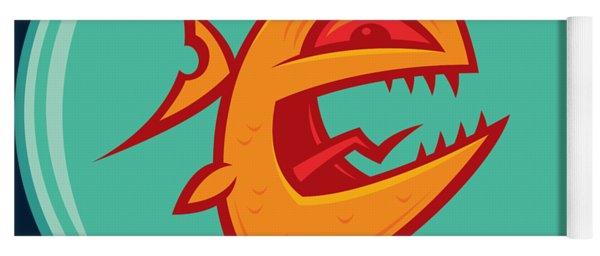 Angry Goldfish Yoga Mat