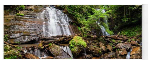Yoga Mat featuring the photograph Anna Ruby Falls by Andy Crawford