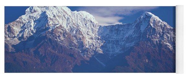 Annapurna South Peak And Pass In The Himalaya Mountains, Annapurna Region, Nepal Yoga Mat