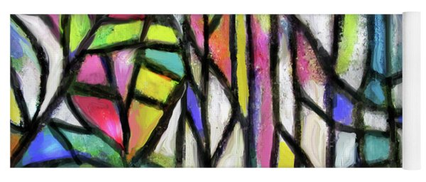 Abstract Forest Yoga Mat