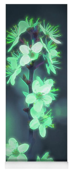 Another World - Glowing Flowers Yoga Mat