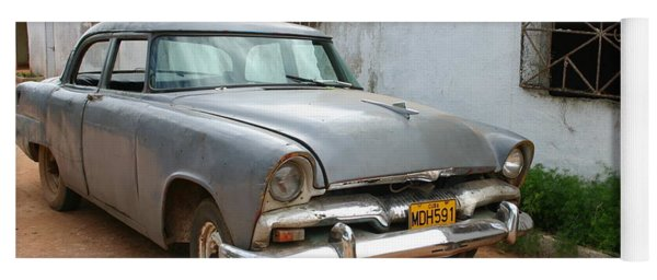 Antique Car Grey Cuba 11300501 Yoga Mat