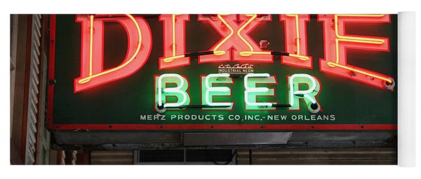 Antique Dixie Beer Neon Sign Yoga Mat