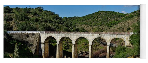 Antique Mertola's Bridge In Alentejo Yoga Mat