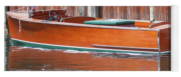 Antique Wooden Boat By Dock 1302 Yoga Mat