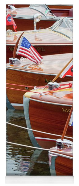Antique Wooden Boats In A Row Portrait 1301 Yoga Mat