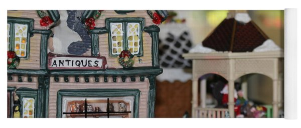 Antiques In Christmas Town Yoga Mat