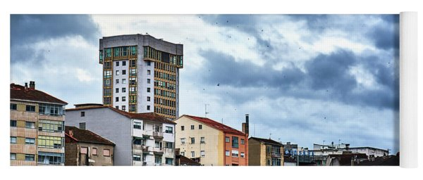 Yoga Mat featuring the photograph Apartment Buildings In Ourense by Eduardo Accorinti