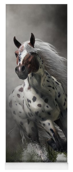 Yoga Mat featuring the digital art Appaloosa by Daniel Eskridge