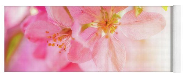 Apple Blossoms Bright Glow Yoga Mat