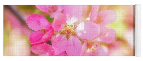 Apple Blossoms Cheerful Glow Yoga Mat