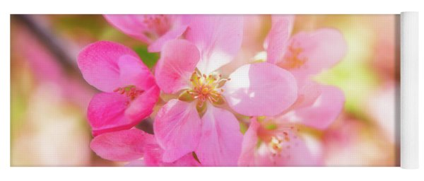 Apple Blossoms Cheerful Glow Yoga Mat