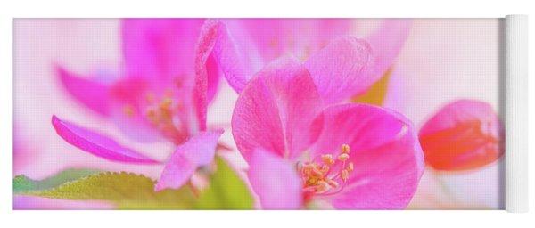 Apple Blossoms Colorful Glow Yoga Mat
