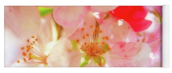 Apple Blossoms Textures Yoga Mat