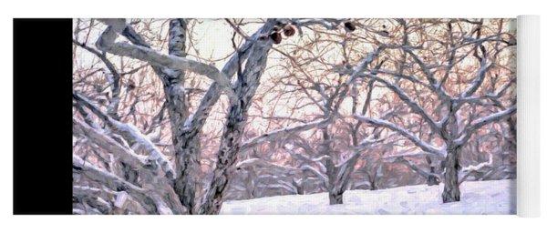 Apples In Winter Fine Art Poster Yoga Mat
