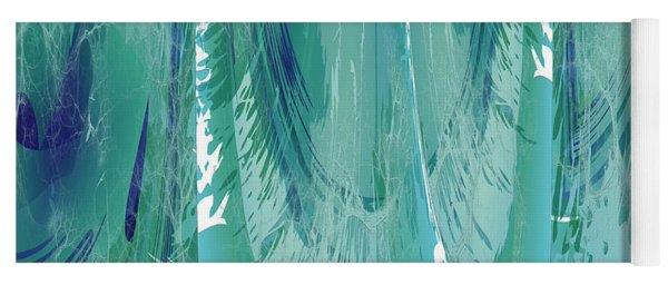 Aqua Abstract Flow Yoga Mat