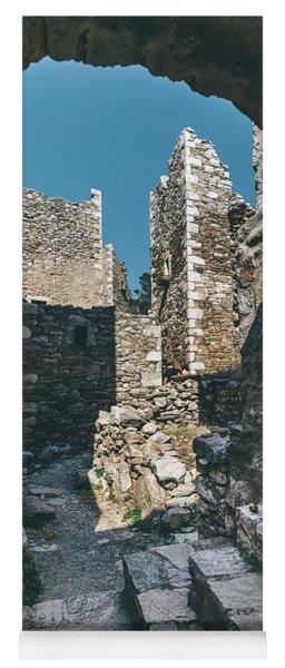 Architecture Of Old Vathia Settlement Yoga Mat