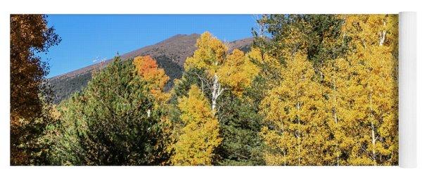 Arizona Aspens With Mountains Yoga Mat