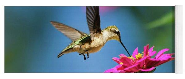 Art Of Hummingbird Flight Yoga Mat