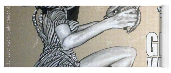 arteMECHANIX 1906 The GIRL WITH The SHINY RAYGUN GRUNGE Yoga Mat
