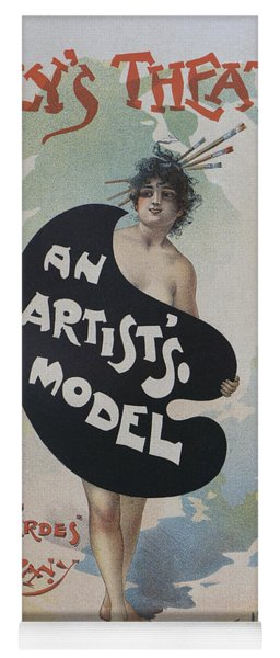 Artists Model, 1896 French Poster Yoga Mat