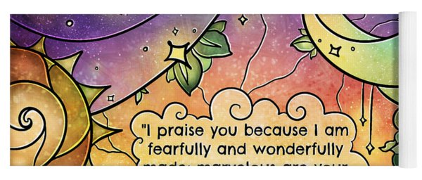 Fearfully And Wonderfully Made By Him Yoga Mat