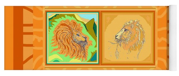 Lion Pair Warm Yoga Mat