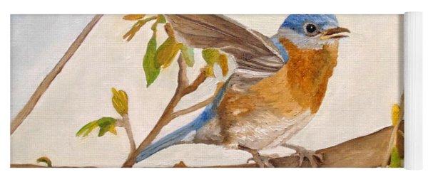 Wingy Eastern Bluebird Yoga Mat