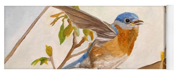 Wingy Eastern Bluebird Yoga Mat