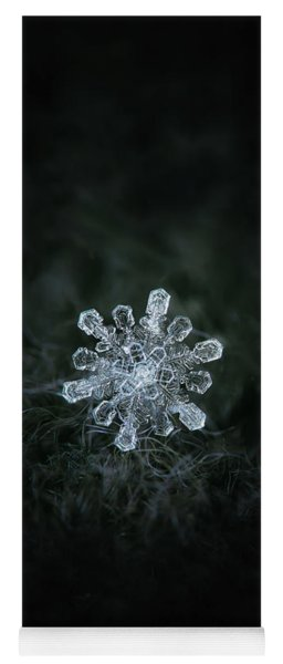 Yoga Mat featuring the photograph Real Snowflake - 04-feb-2018 - 1 by Alexey Kljatov