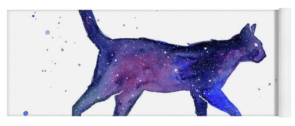 Space Cat Yoga Mat