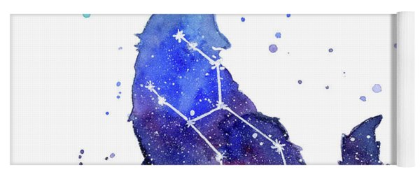 Galaxy Wolf - Lupus Constellation Yoga Mat