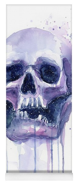 Skull In Space Yoga Mat
