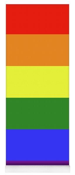 Lgbt 6 Color Rainbow Flag Yoga Mat