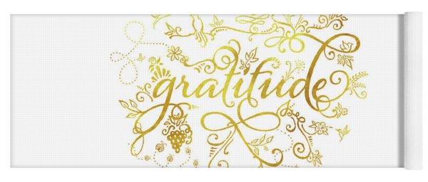 Golden Gratitude Yoga Mat