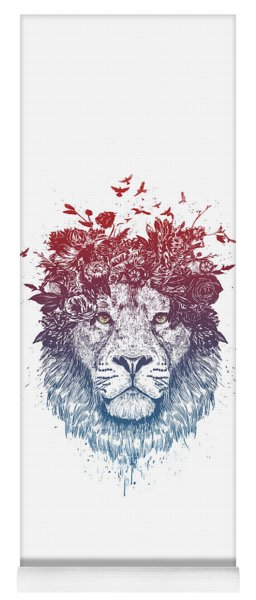 Floral Lion IIi Yoga Mat