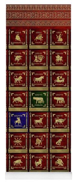 Standards Of Roman Imperial Legions - Legionum Romani Imperii Insignia Yoga Mat