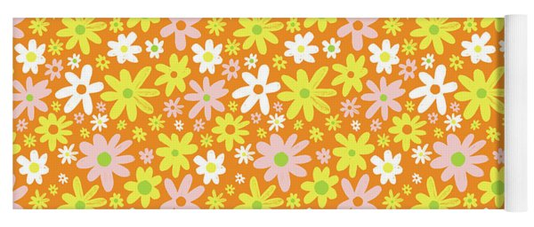 Flower Power Pattern Yoga Mat